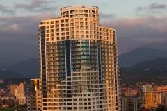 Залез в модерните високи хотели