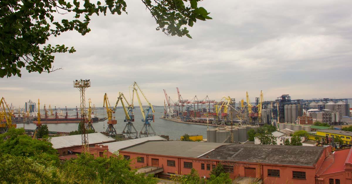 Малка част от пристанището на Одеса