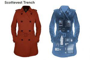 Връхни дрехи с много скрити джобове