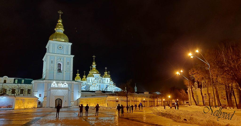 Михайловски събор  Поглед от камбанарията на Софийски събор
