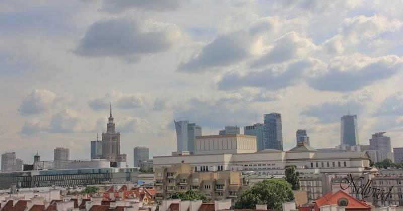 Панорамна гледка към двореца на културата и науката
