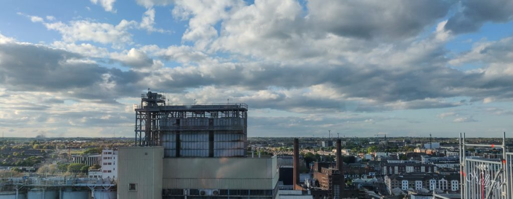 Гледка от последния етаж на Guinness Storehouse